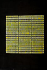 HandPainted Crystal Glass Mosaic Tiles - Kitchen splash back/Feature Wall-Yellow