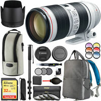 Canon EF 70-200mm f/2.8L IS III USM Telephoto Lens 3044C002AA w/ 77mm Filter Kit