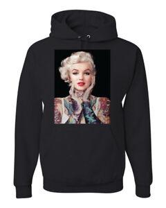 Marilyn Monroe Tattoos Black Pop Culture Unisex Graphic Hoodie Sweatshirt