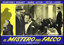 CINEMA-fotobusta IL MISTERO DEL FALCO humphrey bogart, m. astor, JOHN HUSTON