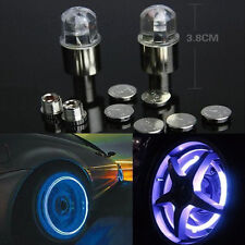 Blue color Neon LED Light on Valve Cap of tyre Wheel Car/Motorcycle/Vehicle 2pcs