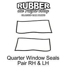 1962 - 1967 Chevy II Wagon Rear Quarter Window Seals Pair