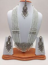 Indian Bridal Jewellery Rani Haar Necklace Set Bollywood Party Ethnic Wear