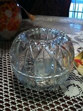 Round Glass Fairy Light Lamp Candle Holder Home Interiors Homco 3 Piece Vintage