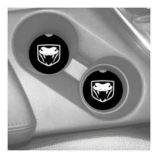 DODGE VIPER LOGO CUSTOM RUBBER CAR COASTERS SET (2)