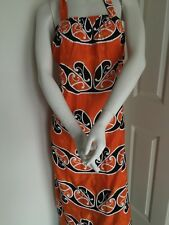 Maori  Design 3/4  Dress sz: M, XL & 3XL orange