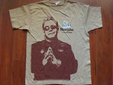 Elton John Ray Cooper 2010 concert tour men's L tan T-shirt w/ show dates NEW