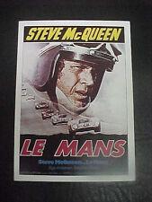 LE MANS, film card [Steve McQueen, Siegfried Rausch] - auto racing