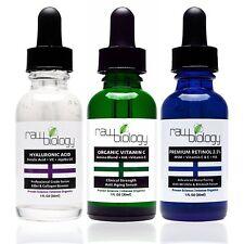 Raw Biology Organic Liquid Facelift with Vitamin C Serum, Retinol and Hyaluronic