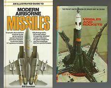 2 MISSILES/ROCKETS BOOKS/MINT/GUNSTON/GATLAND/SALAMANDER/BLANDFORD/AIRCRAFT/TANK