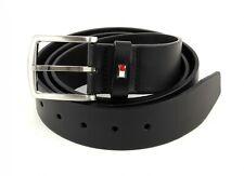 TOMMY HILFIGER New Denton Belt 4.0 W110 Gürtel Accessoire Black Schwarz Neu