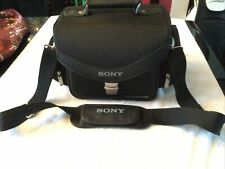 Sony Black Camcorder Handycam Camera Carrying Case Mint Condition!!!!