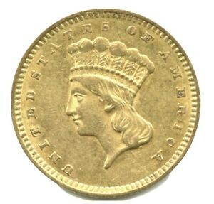1856 Slanted 5 Type 3, Gold Dollar