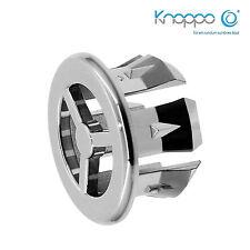 KNOPPO® SET 3 x Waschbecken Überlaufblenden / Überlauf Abdeckung - Fan (chrom)