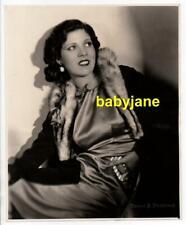 OLIVIE BORDEN ORIGINAL 8X10 PHOTO FASHION PORTRAIT BY ERNEST BACHRACH 1930's