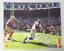 122901 Mario Manningham Signed 16x20 Photo Autograph LEAF COA NY Giants