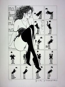 Milo Manara: La Pin Up - Litografía Erótico Firmado, Prueba Artista