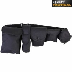TACTICAL SECURITY PATROL BELT SYSTEM MENS UTILITY POUCH POLICE GUARD  AIRSOFT