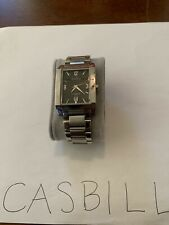 Great Condition- Armitron Stainless Steel Watch- Date Indicator- Black Dial