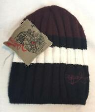 Quiksilver Youth Boys Left Hook Snowboard Winter Beanie Black White Maroon NEW