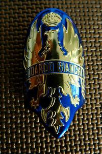 Airborne Bicycle Brushed Metal Head Badge Decal sku Airb701