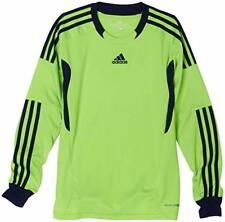 ADIDAS boys junior camp 11 goalkeeper goalie shirt jersey top GREEN 9-16 years