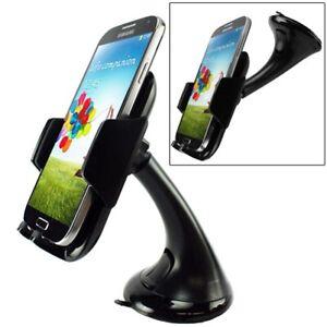 Car Mount Windshield Phone Holder Swivel Cradle Window Rotating for Smartphones