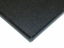 "Black Marine Board HDPE Polyethylene Plastic Sheet 1/4"" x 11"" x 48""  Textured"