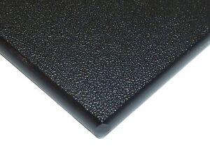 "Black Marine Board HDPE Polyethylene Plastic Sheet 1/4"" x 24"" x 48""  Textured"
