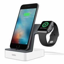 Belkin PowerHouse Charging Dock Station Holder Stand Apple Watch iPhone White