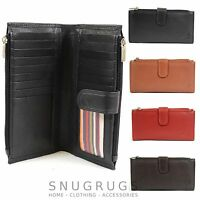 Ladies Large Soft Leather Purse with Multiple Credit Card Slots and Pockets