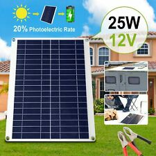 25w 12v Car Boat Yacht Solar Panel Trickle Battery Charger Power Supply Outdoor