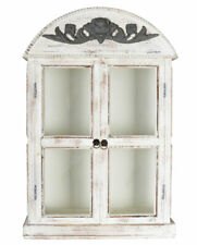 Wall Showcase Shabby Cabinet Display Case Antique Hanging Vintage Wardrobe