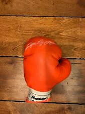 SUGAR RAY LEONARD WELTERWEIGHT USED VINTAGE BOXING GLOVE MADE BY FRANKLIN