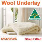 Aus Made Luxury 100% Pure Wool Woolen Underlay/Underblanket-ALL SIZE AVAILABLE
