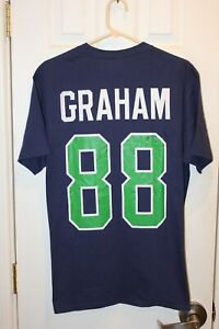 blue Seattle Seahawks Jimmy Graham (88) jersey t-shirt (NWT) - adult large / L