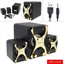 Bonks Mini PC Speakers Music USB Stereo Portable Computer Speaker for Laptop
