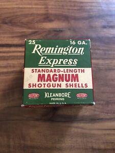 Vintage Remington Express 16 Gauge Shotgun Shell Empty Box