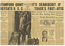 Seabiscuit Tracks Fast Santa Anita Handicap 18 Starters Feb 27 1937 B1