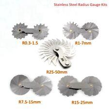 Stainless Steel Radius Gauge Metric Set Foldable Blades Engineer Measuring Tools