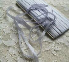 Ruban ancien Pure soie à broder, 5mm, fleurs, habit poupée, chapeau, doll dress