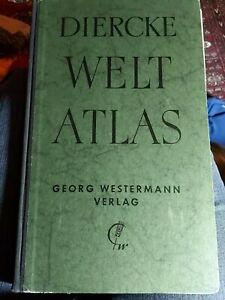 alter Diercke Weltatlas, 1948  Georg Westermann Verlag,