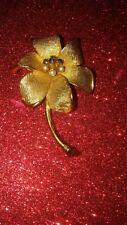 Antique Vintage Benedik NY Flower Brooch, Stunning