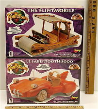 Vintage Flintmobile & Le Sabertooth 5000 Model Kit 1/20 Lindberg Snap Fit NIB
