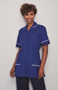Womens Dress Tunic Nurses Uniform Vet Medical Dental Therapist Healthcare