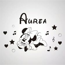 mickey/minnie mouse personalised wall art sticker