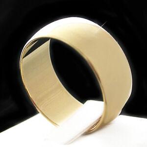14k GOLD GL 9.5mm WEDDING BAND Polished Solid Mens Ladies Ring | LIFE GUARANTEE