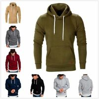 Mens Hooded Hoodie Coat Jacket Outwear Sweater Fit Jumper Loose Pullover Tops