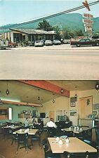 UKIAH CALIFORNIA RON-DE-VOO RESTAURANT SPLITVIEW INTERIOR EXTERIOR OLD POSTCARD
