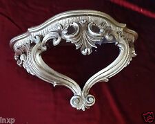 Wall Console Storage Antiqued Silver Baroque Repro 15x7 7/8x6 1/8in Mirror